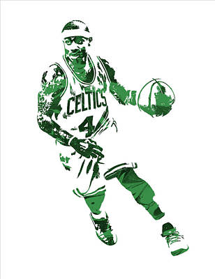 Isaiah Thomas Boston Celtics Pixel Art 6 Art Print by Joe Hamilton