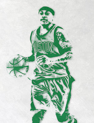 Isaiah Thomas Boston Celtics Pixel Art Art Print by Joe Hamilton