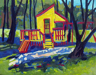 Swing Painting - Isaiah's Play House by Phil Chadwick