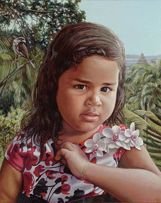 Wall Art - Painting - Isbel by Miguel Tio