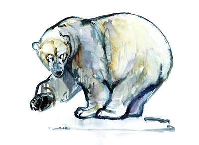 Polar Bear Painting - Isbjorn by Mark Adlington