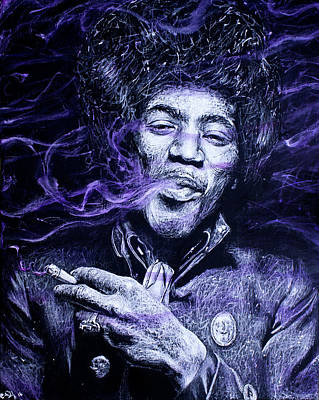 Mj Painting - I S C M- Purple Haze by Soler Art