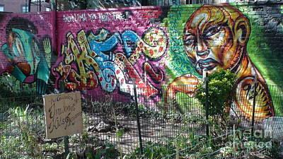 Print featuring the photograph Isham Park Graffiti  by Cole Thompson