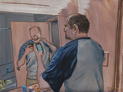 Painting - iShave by Tommy Midyette