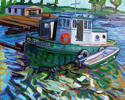 St. Lawrence River Painting - Ishpeming by Phil Chadwick