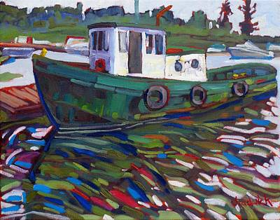 Canoeist Painting - Ishpeming Two by Phil Chadwick