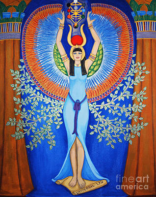 Queen Of Heaven Painting - Isis - Aset by Diveena Seshetta