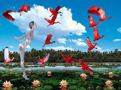 Collective Unconscious Digital Art - Isis Among The Ibises by Mark Myers