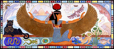 Isis Proud And Radiant Egyptian Goddess Art Print by Heidi Hanson