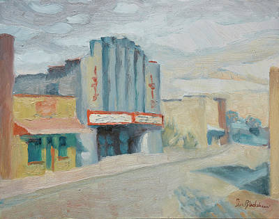 Oil Painting - Isis Theater Asheville by Lisa Blackshear