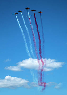 Photograph - Iskry Team During The Airshow by Jaroslaw Blaminsky
