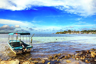Photograph - Isla Carenero Water Taxi At Bocas Del Toro by John Rizzuto