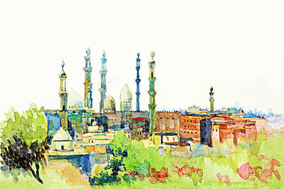 Photograph - Islamic Minarets In Cairo by Munir Alawi