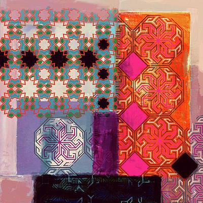 Calligraphic Painting - Islamic Motif II 441 3 by Mawra Tahreem