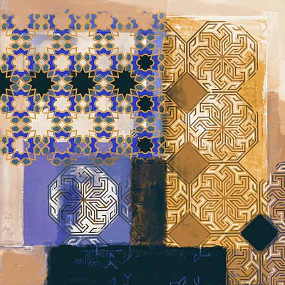 Calligraphic Painting - Islamic Motif II 441 4 by Mawra Tahreem