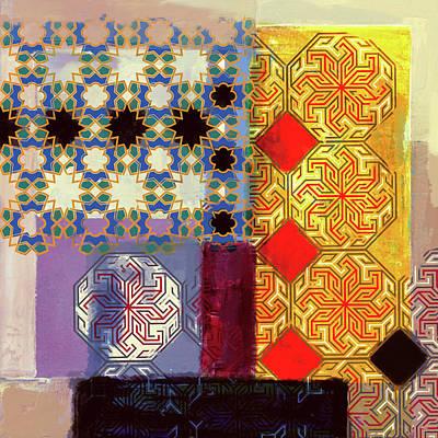 Calligraphic Painting - Islamic Motif II 441 1 by Mawra Tahreem