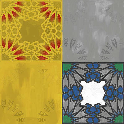 Calligraphic Painting - Islamic Motif Iv 443 1 by Mawra Tahreem