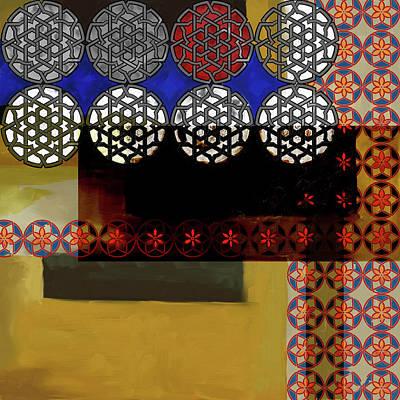 Painting - Islamic Motif Vii 446 1 by Mawra Tahreem