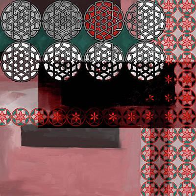 Painting - Islamic Motif Vii 446 4 by Mawra Tahreem