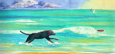 Islamorada Dog Art Print by Anne Marie Brown