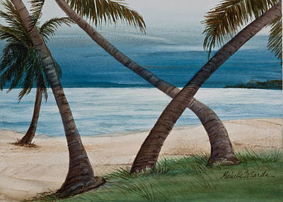 Islamorada Thunderstorm Watercolor Original by Michelle Wiarda