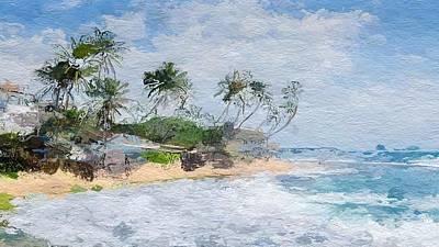 Hawaii Digital Art - Island Abstract  by Anthony Fishburne