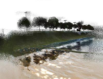 Fantasy Tree Mixed Media - Island Adrift by Monroe Snook