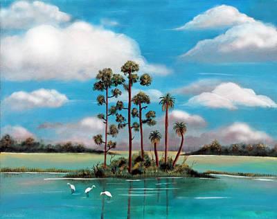 Island After Storm Original by Sabrina Wheeler