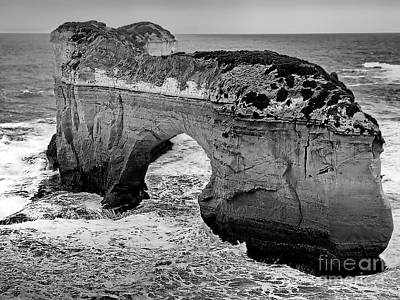 Photograph - Island Archway Bw by Tim Richards