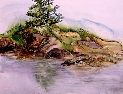 Painting - Island At Rocky Bottoms by Pamela Lee