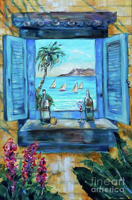 Painting - Island Bar Blue by Linda Olsen