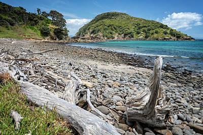 Blue Hues - Island Bay Great Barrier Island New Zealand II by Joan Carroll