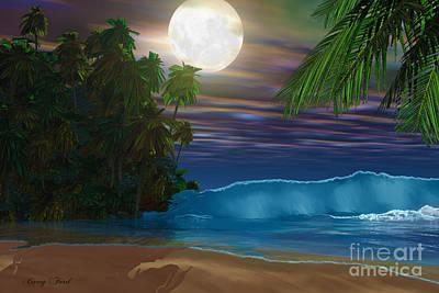 Island Beach Art Print by Corey Ford