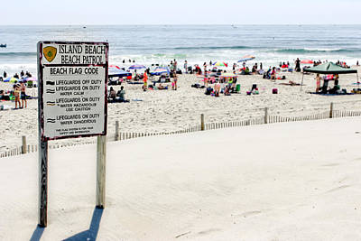 Photograph - Island Beach Patrol - Sign by Colleen Kammerer