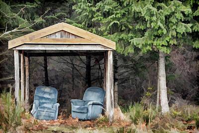 Photograph - Island Bus Stop - 365-141 by Inge Riis McDonald