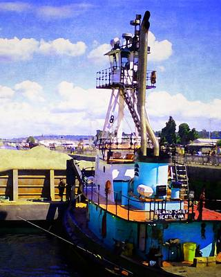 Photograph - Island Chief In The Ballard Locks by Timothy Bulone
