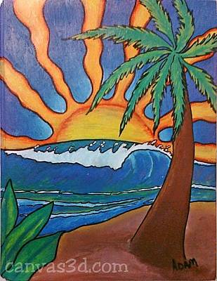 Painting - Island Days by Adam Johnson