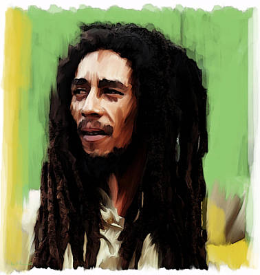 Painting - Island Fire Bob Marley by Iconic Images Art Gallery David Pucciarelli