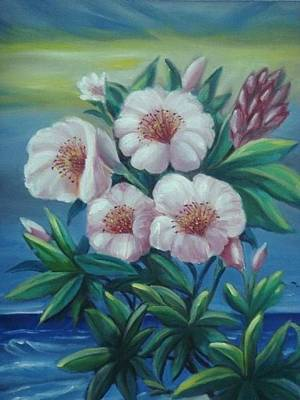 Painting - Island Flower by Wanvisa Klawklean