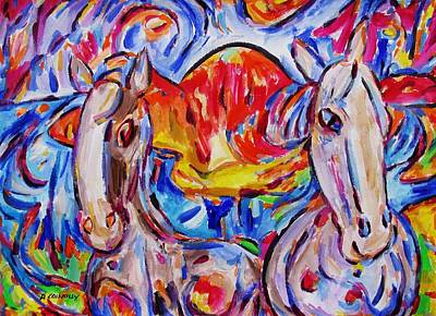 Painting - Island Foals by Dianne  Connolly