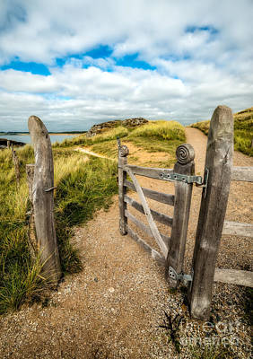 Hinges Photograph - Island Gate by Adrian Evans