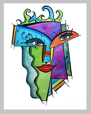 Painting - Island Girl by Carolyn Weir