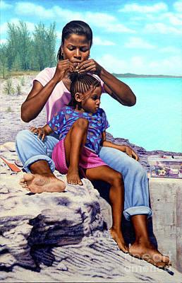 Painting - Island Girls II by Nicole Minnis