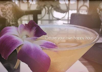 Photograph - Island Happy Hour Quote by JAMART Photography