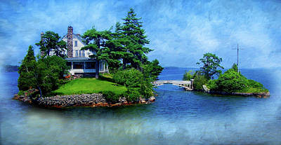Photograph - Island Home With Bridge - My Happy Place by Patti Deters