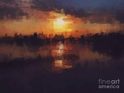 Yorba Photograph - Island In The City by Jenny Revitz Soper
