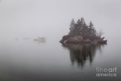 Island In The Fog Art Print by Benjamin Williamson