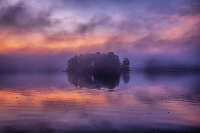 Photograph - Island In The Fog by Lilia D