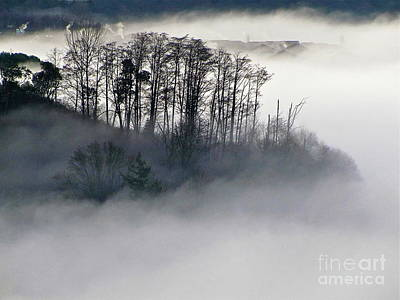 Lightscapes Photograph - Island In The Morning Mist by Sean Griffin