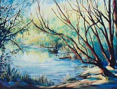 Painting - Island Lake by Caroline Patrick